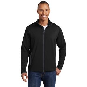 Sport-Tek® Men's Sport-Wick® Stretch Contrast Full-Zip Jacket