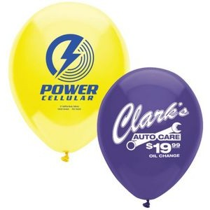 "11"" AdRite Crystal/ Fun Color Economy Line Latex Balloon"